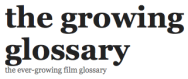 The Growing Film Glossary logo